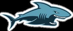 Hungry Shark Logo Mascot Sticker