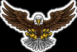Hunting Cartoon Eagle Sticker