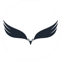 Hunting Eagle Negative Space Sticker