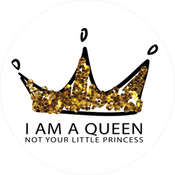I am a Queen Crown Sticker