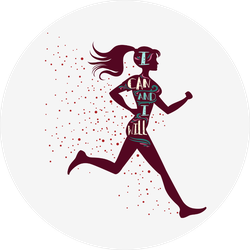I Can And I Will Girl Runner Sticker