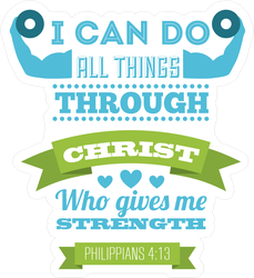 I Can Do All Things Christian Poster Sticker