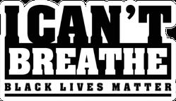 I Can't Breathe, Black Lives Matter Text Sticker