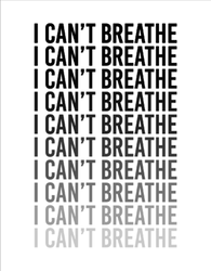 I Can't Breathe Typography Sticker