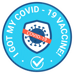 I Got My Covid-19 Vaccine Shot Sticker
