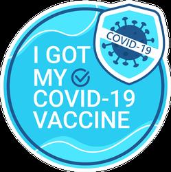I Got My Covid Vaccine Germ Icon Sticker