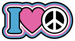 I Heart Peace Sticker
