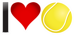 I Heart Tennis Sticker