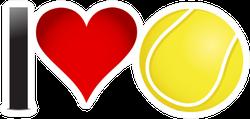 I Heart Tennis Sticker