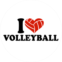 I Heart Volleyball Ballheart Sticker
