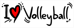 I Heart Volleyball Sticker