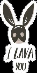 I Lava You Rabbit Sticker