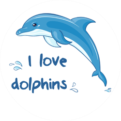 I Love Dolphins Sticker