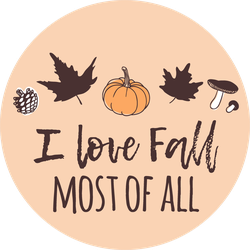 I Love Fall Most Of All Sticker