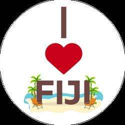 I Love Fiji Beach Sticker