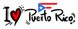 I Love Puerto Rico Sticker