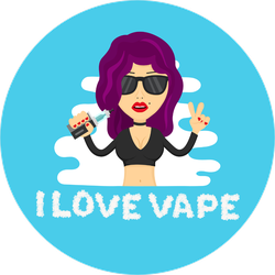 I Love Vape Girl Sticker