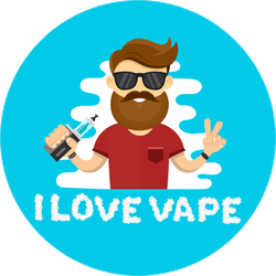 I Love Vape Hipster Sticker