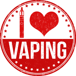 I Love Vaping Stamp Sticker