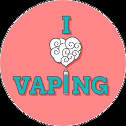 I Love Vaping Text Sticker
