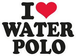 I Love Water Polo Sticker