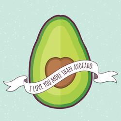 I Love You More Than Avocado Sticker