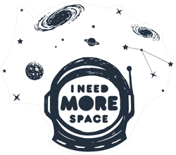 I Need More Space Astronaut Helmet Sticker