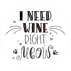 I Need Wine Right Meow Sticker
