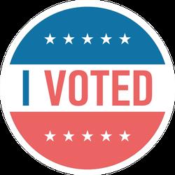 I Voted Illustration Sticker
