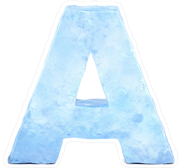 Ice Font Letter A Sticker