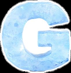 Ice Font Letter G Sticker