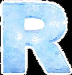 Ice Font Letter R Sticker