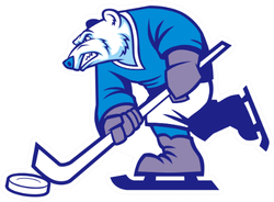 Ice Hockey Polar Bear Mascot Sticker