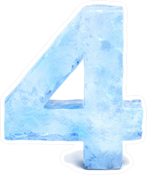 Ice Number Four Sticker