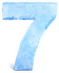 Ice Number Seven Sticker