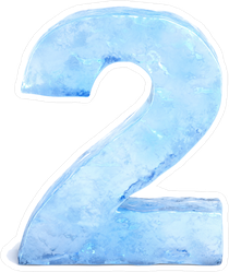 Ice Number 2 Sticker