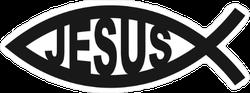 Ichthus Fish Jesus Sticker