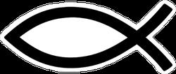 Ichthus Fish Symbol Sticker