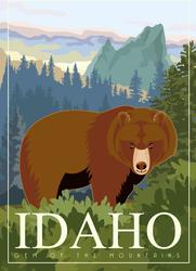 Idaho Bear Sticker
