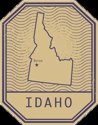 Idaho Stamp Sticker