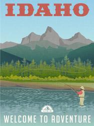Idaho Welcome To Adventure Sticker
