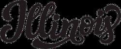 Illinois Calligraphy Sticker