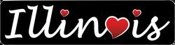 Illinois Hearts Sticker