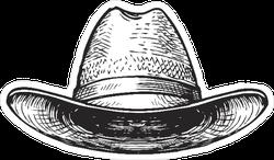 Illustrated Cowboy Hat Sticker