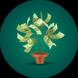 Illustrated Dollar Tree Sticker