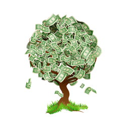 Illustrated Money Tree Sticker