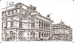 Illustrated View Of Vienna Austria's Capital Sticker