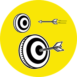 Illustration Graphic Doodle Art Archery Target Hit By Arrow Sticker