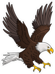 Illustration Of A Bald Eagle Sticker