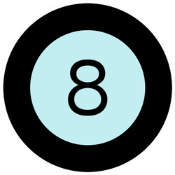 Illustration Of A Billiard Ball Icon Sticker